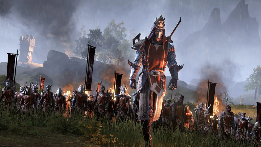 Marching to war in Cyrodiil