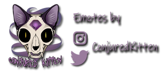 Conjured Kitten, emote and icon designs